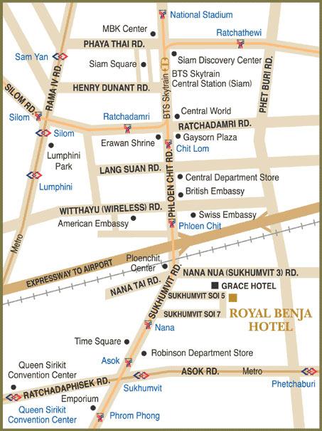 Map Drawing - Us embassy bangkok map