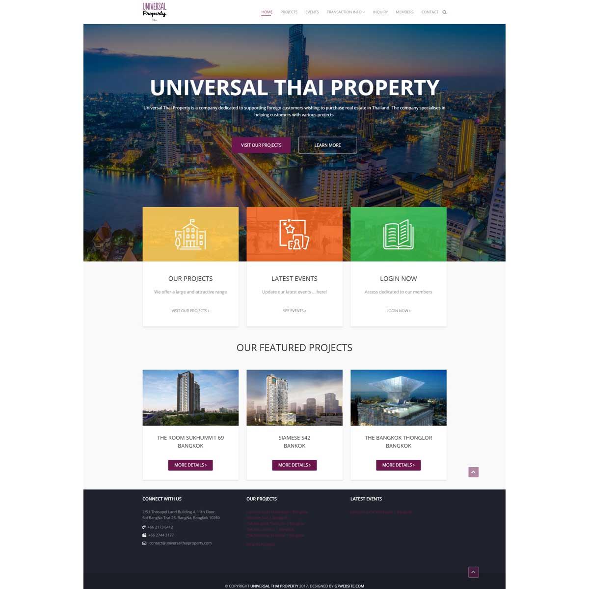 G7 website design bangkok for At home web design